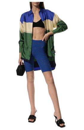 Женские хлопковые шорты KENZO синего цвета, арт. FB52SH5203RI | Фото 2