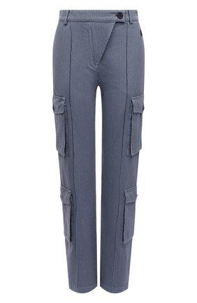 Женские хлопковые брюки KENZO голубого цвета, арт. FB52PA0329CF | Фото 1