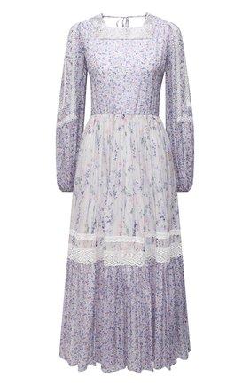 Женское платье из вискозы ERMANNO FIRENZE сиреневого цвета, арт. D38ET AB07PFF | Фото 1