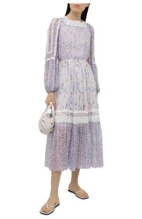 Женское платье из вискозы ERMANNO FIRENZE сиреневого цвета, арт. D38ET AB07PFF | Фото 2