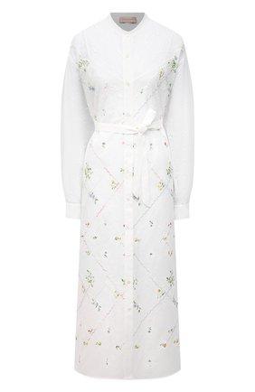 Женское платье из вискозы ERMANNO FIRENZE белого цвета, арт. D38ET AB35SAN | Фото 1