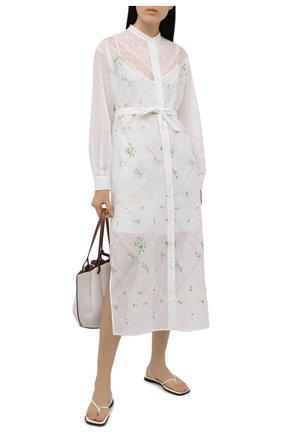 Женское платье из вискозы ERMANNO FIRENZE белого цвета, арт. D38ET AB35SAN | Фото 2