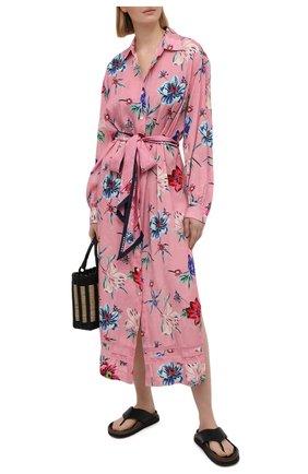 Женское платье из вискозы ERMANNO FIRENZE розового цвета, арт. D38ET AB38TFS | Фото 2