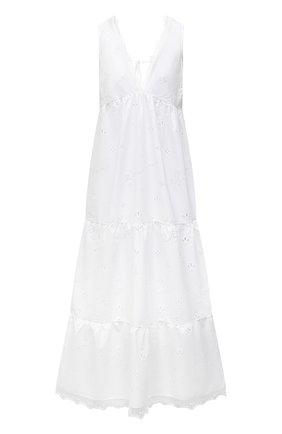 Женское хлопковое платье ERMANNO FIRENZE белого цвета, арт. D38ET AB46SAN | Фото 1