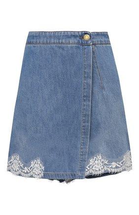 Женская джинсовая юбка-шорты ERMANNO FIRENZE голубого цвета, арт. D38ET GJ020PR | Фото 1