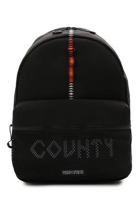 Мужской текстильный рюкзак MARCELO BURLON черного цвета, арт. CMNB018S21FAB001 | Фото 1