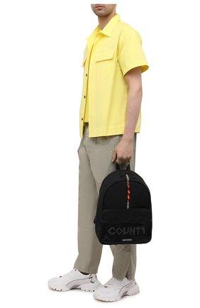 Мужской текстильный рюкзак MARCELO BURLON черного цвета, арт. CMNB018S21FAB001 | Фото 2