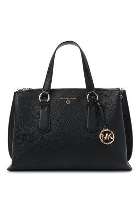 Женская сумка emma medium MICHAEL MICHAEL KORS черного цвета, арт. 30S1GENS2L | Фото 1