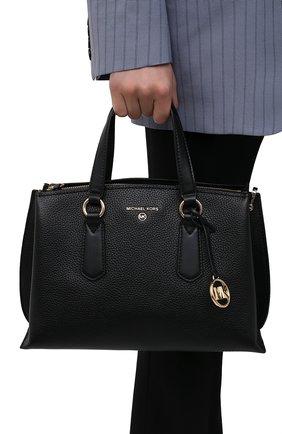 Женская сумка emma medium MICHAEL MICHAEL KORS черного цвета, арт. 30S1GENS2L | Фото 2