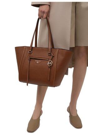 Женский сумка-тоут carine medium MICHAEL MICHAEL KORS коричневого цвета, арт. 30S1GCCT3L | Фото 2