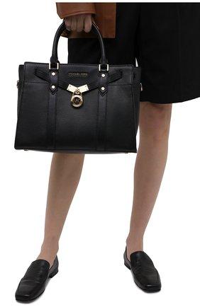 Женская сумка nouveau hamilton large MICHAEL MICHAEL KORS черного цвета, арт. 30F9G0HS3L | Фото 2