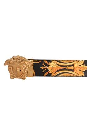 Мужской кожаный ремень medusa VERSACE золотого цвета, арт. DCU6705/DVTSA8 | Фото 3 (Случай: Повседневный)