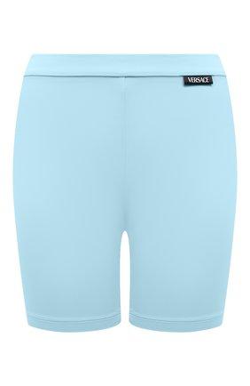 Женские шорты VERSACE голубого цвета, арт. A88980/A101049 | Фото 1