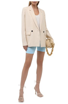 Женские шорты VERSACE голубого цвета, арт. A88980/A101049 | Фото 2