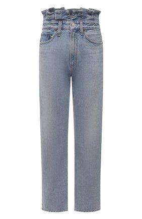 Женские джинсы AGOLDE голубого цвета, арт. A170-1141 | Фото 1 (Длина (брюки, джинсы): Стандартные; Силуэт Ж (брюки и джинсы): Прямые; Стили: Кэжуэл; Материал внешний: Хлопок; Детали: Потертости; Кросс-КТ: Деним)
