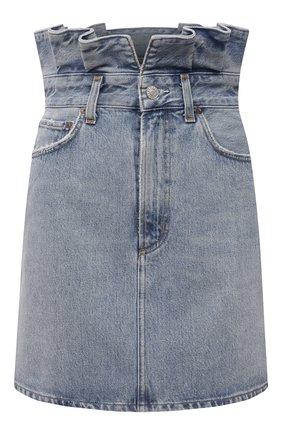 Женская джинсовая юбка AGOLDE голубого цвета, арт. A3025-1141 | Фото 1