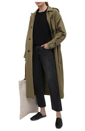 Женский хлопковый свитшот AGOLDE черного цвета, арт. A7074B | Фото 2