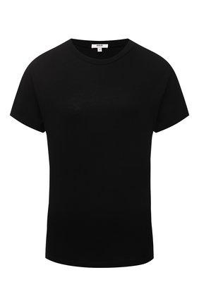 Женская хлопковая футболка AGOLDE черного цвета, арт. A7078   Фото 1
