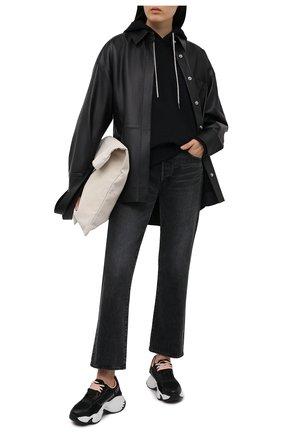 Женские комбинированные кроссовки EMPORIO ARMANI черного цвета, арт. X3X088/XM690 | Фото 2