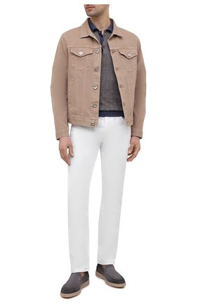 Мужские джинсы JACOB COHEN белого цвета, арт. J688 C0MF 02323-W1/55   Фото 2