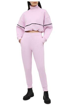 Женские хлопковые джоггеры ALEXANDERWANG.T розового цвета, арт. 4CC2214084 | Фото 2