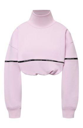 Женский хлопковый свитшот ALEXANDERWANG.T светло-розового цвета, арт. 4CC2211183 | Фото 1