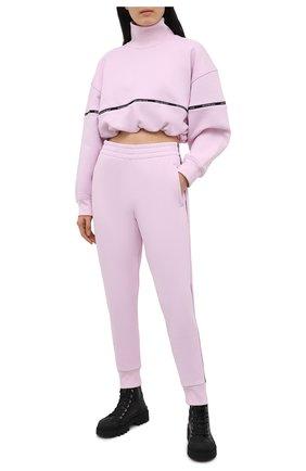 Женский хлопковый свитшот ALEXANDERWANG.T светло-розового цвета, арт. 4CC2211183 | Фото 2