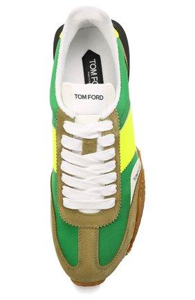 Мужские комбинированные кроссовки TOM FORD зеленого цвета, арт. J1292T-LCL134 | Фото 5 (Материал внешний: Текстиль; Стили: Гранж; Материал внутренний: Текстиль; Подошва: Массивная)