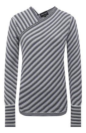 Женский пуловер из вискозы GIORGIO ARMANI серого цвета, арт. 6KAM02/AM54Z | Фото 1