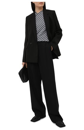 Женский пуловер из вискозы GIORGIO ARMANI серого цвета, арт. 6KAM02/AM54Z | Фото 2