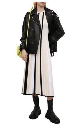 Женское платье из вискозы MRZ черно-белого цвета, арт. S21-0360 | Фото 2