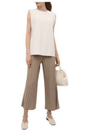 Женские шерстяные брюки THEORY бежевого цвета, арт. L0111718 | Фото 2