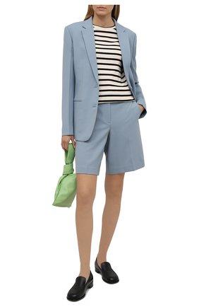 Женские шорты HELMUT LANG голубого цвета, арт. L01HW204 | Фото 2