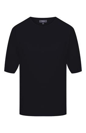 Женская хлопковая футболка THEORY темно-синего цвета, арт. L0214713 | Фото 1