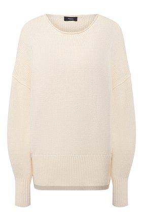 Женский хлопковый свитер THEORY светло-бежевого цвета, арт. L0214715 | Фото 1