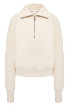 Женский хлопковый пуловер HELMUT LANG светло-бежевого цвета, арт. L02HW501 | Фото 1