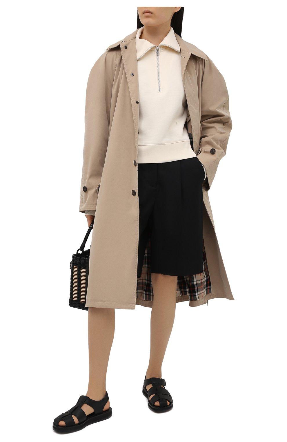 Женский хлопковый пуловер HELMUT LANG светло-бежевого цвета, арт. L02HW501   Фото 2