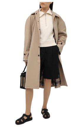 Женский хлопковый пуловер HELMUT LANG светло-бежевого цвета, арт. L02HW501 | Фото 2