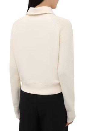 Женский хлопковый пуловер HELMUT LANG светло-бежевого цвета, арт. L02HW501   Фото 4