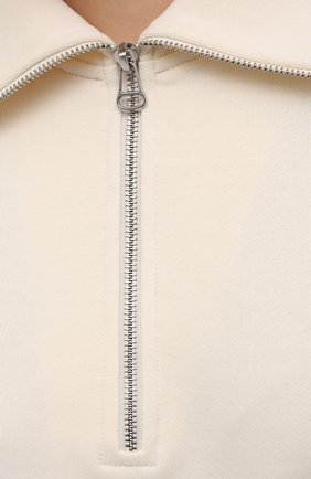 Женский хлопковый пуловер HELMUT LANG светло-бежевого цвета, арт. L02HW501   Фото 5