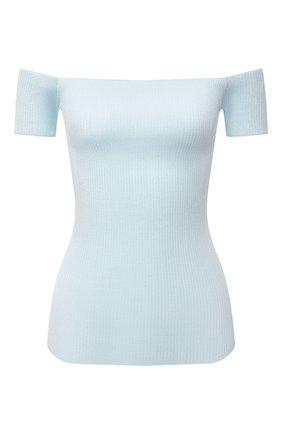 Женский топ HELMUT LANG голубого цвета, арт. L01HW707 | Фото 1