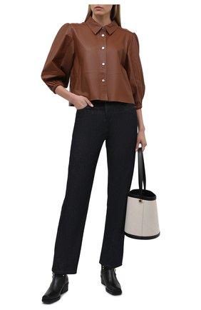 Женская кожаная куртка MAX&MOI коричневого цвета, арт. E21VALENE | Фото 2