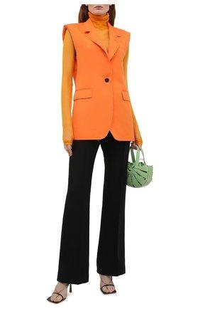 Женский хлопковый жилет MSGM оранжевого цвета, арт. 3042MDG106 217300 | Фото 2
