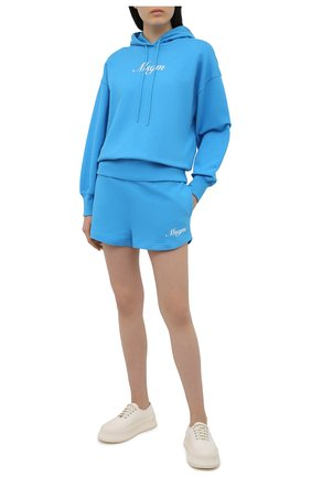 Женский хлопковое худи MSGM голубого цвета, арт. 3042MDM208 217499 | Фото 2