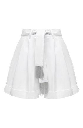 Женские хлопковые шорты MAX&MOI белого цвета, арт. E21BADY | Фото 1