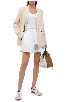 Женские хлопковые шорты MAX&MOI белого цвета, арт. E21BADY | Фото 2