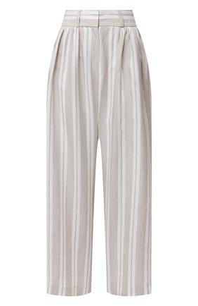 Женские льняные брюки MAX&MOI бежевого цвета, арт. E21BRUNA | Фото 1
