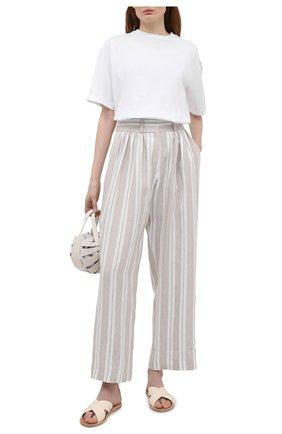 Женские льняные брюки MAX&MOI бежевого цвета, арт. E21BRUNA | Фото 2