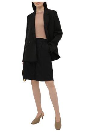 Женский шерстяной пуловер MAX&MOI бежевого цвета, арт. E21PRISCILLA | Фото 2