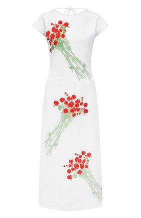 Женское платье BERNADETTE белого цвета, арт. SS21-DRESS-ANN-CRE-1 | Фото 1